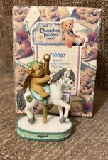August birthstone Bear on Carousel Horse figure Cherished Teddys 2000