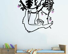 Sloth Wall Decal for Kids Room - Jungle Animal - Large Wall Stickers for Nurse