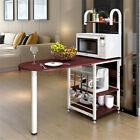 Bar Table Wooden Rack Stand Shelves Storage Holder Dining Kitchen Furniture Home