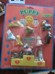Vintage/Collectable Puppy In My Pocket with 10 dogs and podium. super pack. (1)