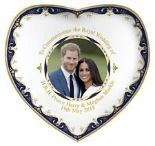 Royal Heritage H.r.h Harry and Megan Markle Wedding Commemorative Heart Shape Di