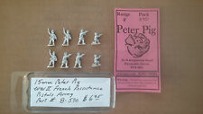15mm Peter Pig  WWII French resistance Pistols firing