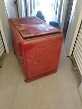 ANTIQUE COCA COLA SODA COOLER MACHINE ART SIGN COKE TABLE COUNTER STAND BOX