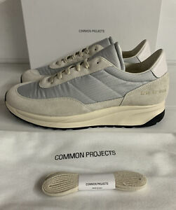 Common Projects Track Classic Suede & Ripstop Sneakers White 8 UK 42 EU New Box