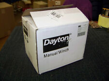 """Dayton 6 1/4"""" H Pulling Hand Winch with 2000 lb. 1st Layer Load Capacity 12U375"""