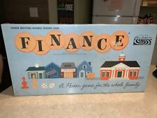 Vintage 1958 FINANCE Board Game  Parker Brothers Complete in Box
