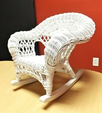 White Wicker Doll to Bear Rocking Chair