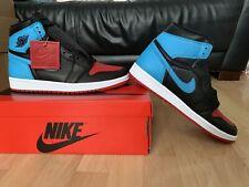 Nike Air Jordan 1 Retro High OG 'NC to Chi' Red Powder Blue UK 9 US 11.5W EU 44