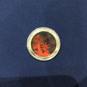2000 Liberia $10 Statue of Liberty Hologram Proof Coin P2950