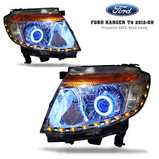 FRONT HEADLIGHT LAMP PROJECTOR CCFL ANGEL EYE FOR FORD RANGER T6 MK PX 12 13 14