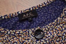 APC A.P.C. RUE MADAME PARIS VINTAGE FLORAL PRINT POCKETS DRESS S (M-L) JAPAN