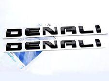 2x OEM Black Denali Nameplate EMBLEM for GM Yukon Sierra HD Terrain U FU