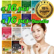 16pcs Malie Korean Face Mask Sheet Pack Facial Mask Moisture Skin Care K-Beauty