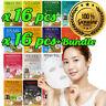 Malie Coréen Visage Masque Feuille Paquet Hydratation Peau Soin Full 16pcs Set
