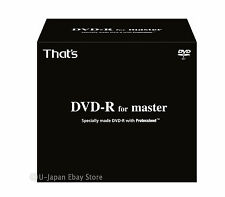 New! 10 Taiyo Yuden DVD-R For Master 4.7GB 8x Speed Made in Japan Sealed Discs