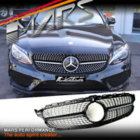 C43 Diamond Style Front Bumper Grille Grill for Mercedes-Benz C-Class W205 C205