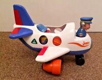 ELC Jumbo Aeroplane Lights And Sounds 2 People 2 Suitcases Push Along