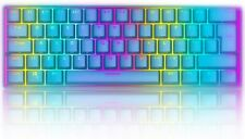 60% True Mechanical Gaming Keyboard Keypads Wired 61 Keys RGB Backlit For PC PS4