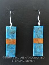 Santo Domingo Turquoise Apple Coral Jet Dangle Earrings - Lupita Calabaza