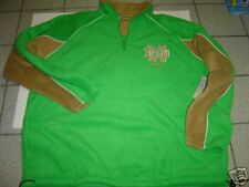"NEW MENS NCAA RUSSELL ATHLETIC  ""NOTRE DAME"" GREEN FLEECE SWEATSHIRT SIZE L"