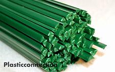 ABS Plastic welding rods 5mm green, 20pcs triangular shape