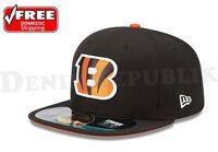 New Era 5950 CINCINNATI BENGALS Game NFL On Field Game Cap Fitted Black Hat