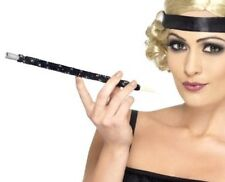 20s 1920s Flapper Lady Sequinned Long Cigarette Cig Holder Black by Smiffys New