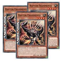 3x RAPTOR FRAMMENTO • (Scrap Raptor) • Comune • LIOV IT021 • Yugioh! • ANDYCARDS