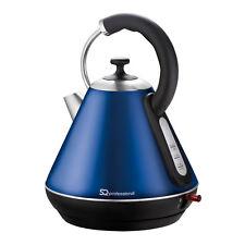 1.8L LED Cordless Electric Swivel Kettle Tea Coffee Fast Boil Dark Blue 2200W