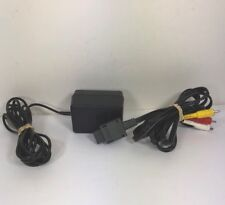 Super Nintendo Power Cord (Original SNES Parts) AC Adapter SNS-002 And AV Cable