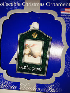 Santa Paw Picture Frame Christmas Ornament