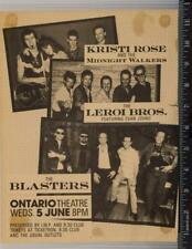 Vintage The Blasters Promotional Poster 8x10 Ontario Theater Washington DC tob