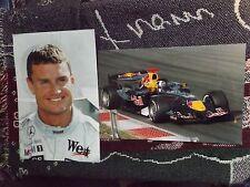 """RACCOLTA di 2 x 12"""" x 8"""" David Coulthard F1 stampe fotografiche-McLaren RED BULL"""