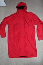 Men Sz Large Tall LT LL Bean Goretex Rain Jacket Long Trench Waterproof Coat Red