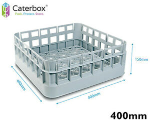 Classeq Classic 400mm Glasswasher Basket   Open Dishwasher Basket Tray 400 x 400