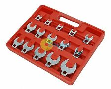 """15pc Crow Foot Spanner Set 3/8"""" Drive Crowfoot Socket Wrench Heads 8 - 24mm New"""