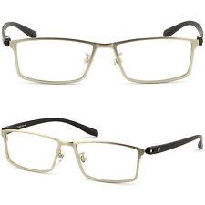 Mens Womens Titanium Frames Prescription Glasses UV Protection Sunglasses Silver
