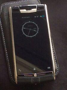 Vertu Signature Touch Black Leather Titanium Luxury Android Smartphone