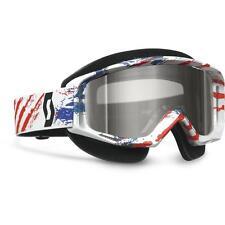 Scott USA TYRANT Snowcross Goggles MXON RED BLUE Flag ACS ROSE Lens Snocross