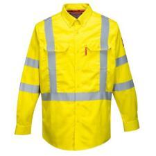 Portwest Bizflame 88/12 yellow hi-vis flame resistant shirt #FR95