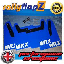rallyflapZ SUBARU IMPREZA Blobeye (01-07) Mud Flaps WR Blue WRX White 3mm PVC