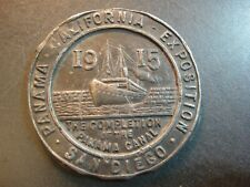 New Listing1915 San Diego, Ca Exposition. Medal Token. Panama Canal.