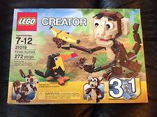 Lego Creator 31019 Forest Animals retired monkey toucan teddy bear squirrel Nip