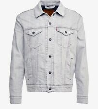 Levi's Mens Reversible Lined Denim Trucker Jacket, Grey Medium