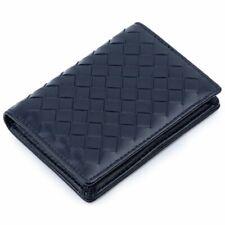 Handmade Soft Knitting Wallets Genuine Leather Business Men Women Card Holders
