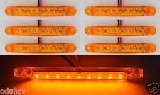 6x 9 LEDs Ambré Orange 12V latéral Contour FEUX DE POSITION SUV