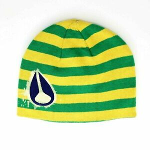 Nixon Luna Rosa Beanie Hat Green Yellow One Size