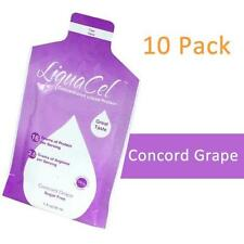 LIQUACEL CONCENTRATED LIQUID PROTEIN PACKETS CONCORD GRAPE 1 OZ PACKETS 10 PACK!