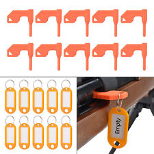 Pack of 10 Universal Gun Chamber Safety Flag with Bonus DIY Key Chain Tags