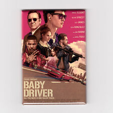 "BABY DRIVER / OFFICIAL - 2"" X 3"" POSTER MAGNET (edgar wright soundtrack print lp"